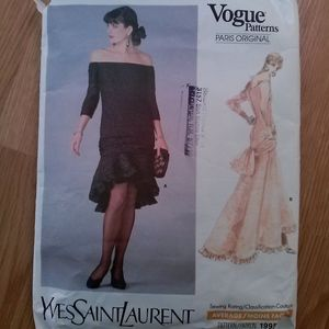 VTG 1980s Evening Gown Vogue Pattern Sz S